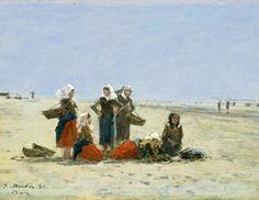 «Pêcheuses sur la plage de Berck» par Eugène Boudin, 1881. - Photo Courtesy National Gallery of Art, Washington