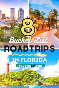 The best road trips in Florida for fun and sun. Drive itineraries from Miami and Ft. Lauderdale to the Florida Keys and everywhere in between. What to do in Florida for weekend fun this winter. A snowbird itinerary for things to do in Orlando and beyond. Usa Travel Guide, Travel Advice, Travel Usa, Travel Guides, Travel Tips, Travel Destinations, Canada Travel, Road Trip Packing, Road Trip Games