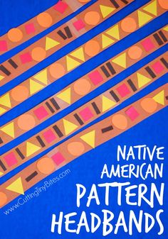 DONE Native American Pattern Headband. Thanksgiving craft for toddlers and preschoolers. Incorporates colors, patterns, shapes, dress-up, and pretend play! Great for fine motor development. Thanksgiving Crafts For Toddlers, Fall Preschool, Thanksgiving Crafts For Kids, Preschool Lessons, Preschool Activities, Fall Crafts, Thanksgiving Activities For Preschool, November Preschool Themes, Kindergarten Thanksgiving