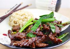 Healthier Mongolian Beef by chowdivine #Beef #Asian
