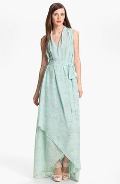 Rachel Zoe Celine Print High/Low Silk Gown available at #Nordstrom