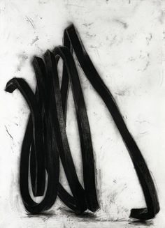 Bernar Venet, Undetermined Line, 1988, pastel and collage on paper, 215 x 152 cm