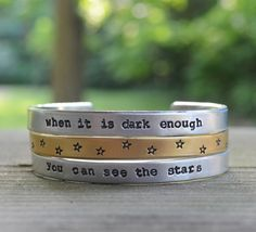 You Can See The Stars Cuffs Mixed Metal by CynicalRedhead