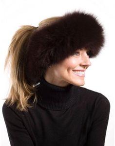 Henig Furs::Fox Fur Headband 3'' www.henigfurs.com