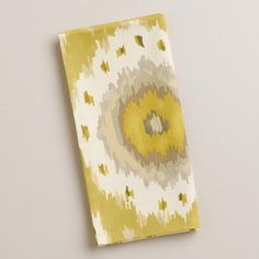 One of my favorite discoveries at WorldMarket.com: Citrus Ikat Dot Napkins, Set of 4