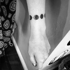 Risultati immagini per moon phases tattoo arm bracelet