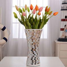Ваза декоративная стеклянная Сияние мозаика - Pesquisa Google