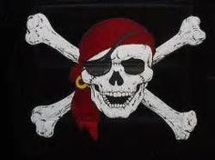 Pirate skull tattoo. With a pink bandana of course!