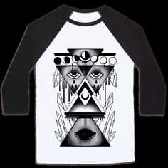 A witch's collage of creepy,occult, illuminati triangles , and crystal imagery. Harness the powers of the occult to keep men at bay with this cute gothic witchcraft shirt! | HUMAN