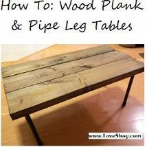 Hometalk :: Plumbing pipe & wood plank tables look great, they're versatile, t…