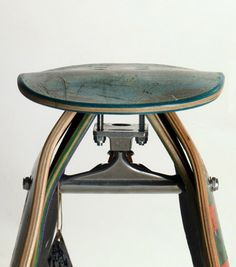 recycled skateboard stool                                                                                                                                                                                 More