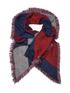 szalik damski czerwony - SSA0683 TOP SECRET
