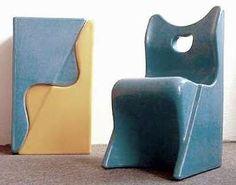 Kinderstapelstuhl by Luigi Colani 1973. Child's chair & stool.