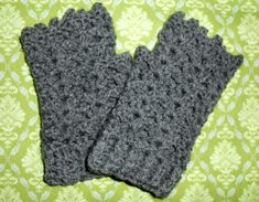 Fingerless Shell Gloves by lydienne What you'll need about 50 g of DK weight yarn 4.00mm hook scissors yarn needle Pattern Round 1: 24 fsc, join with sl st Note: If this doesn't fit you…