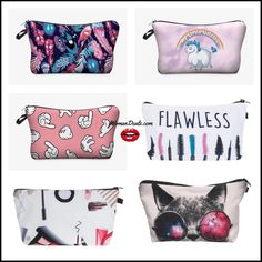 Makeup Bags, Cosmetic Bag, Sunglasses Case, Cartoon, Printed, Cute, Stuff To Buy, Makeup Pouch, Make Up Bags