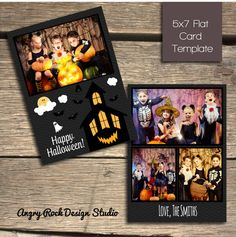 8 best halloween card photoshop templates images on pinterest card happy halloween haunted house 5x7 photoshop card template instant download m4hsunfo