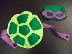 TMNT turtle mask and shell set. How cool is this! Looks easy enough to make.