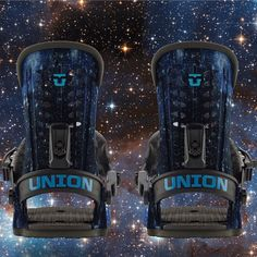 Sent from the future to take your riding up a few notches today! The new Cosmos 'Force' bindings from Union Binding Company are packed with space age tech like 3D aluminum heelcups, magnesium buckles & Stage IV baseplates. Go galactic with it & pick up a set in-store or online at MODA3.com. $220 #unionbindings #stronger #MODA3 #force #cosmos #snowboard #binders