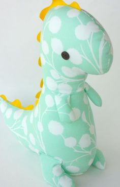 sewing projects dinosaurs | Adorable DIY dinosaur