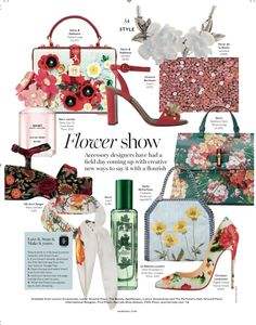 Harrods Magazine May/June Womenswear Style Page {FloralAccessories}