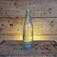 Nassau Brewing Co. Antique Beer Bottle Early by TheCobbleHillCo