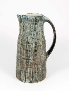 Junction Art Gallery - Yo Thom Tall Jug http://www.junctionartgallery.co.uk/artists/ceramics/yo-thom