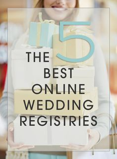 We are sharing the 5 BEST online exclusive wedding registries and why we think they are so fabulous! Check them out now!! Can you guess what they are?