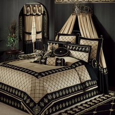Luxury Bedding Sets On Sale Royal Bedroom, Bedroom Bed, Dream Bedroom, Bedroom Decor, Master Bedroom, Elegant Home Decor, Elegant Homes, Luxurious Bedrooms, Comforter Sets