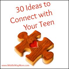 "We all know that connecting with teenagers can be tough at times. This blog gives many ideas of ways to spend some time with your teens and connect with them a little more. Some of the ideas include a ""date"" night, volunteering together, and many more!"