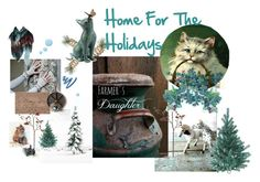 """Home for the Holidays"" by catfabricsandbuttons ❤ liked on Polyvore featuring interior, interiors, interior design, home, home decor, interior decorating, Yves Saint Laurent, Topshop, Improvements and Bungalow Flooring"