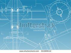 Engineering backgrounds. Technical. Mechanical engineering drawings. Blueprints. White and blue    #bubushonok #art #bubushonokart #design #vector #shutterstock  #technical #engineering #drawing #blueprint   #technology #mechanism #draw #industry #construction #cad