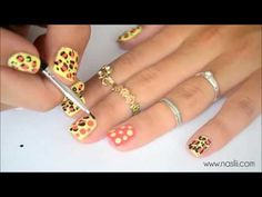 Summer Leopard Nail Art for Short Nails  I love doing this all year round with different colors! Just a cool idea!