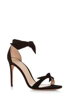 Clarita Suede Tie Front Sandals by ALEXANDRE BIRMAN Now Available on Moda Operandi