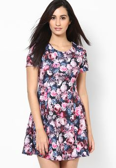 For women who like to experiment with a fresh style, this multicoloured dress from Dorothy Perkins is a perfect buy. Featuring a bold floral print all over, this dress will certainly become your favourite in just no time. Team this poly spandex dress with high heels for a chic look.
