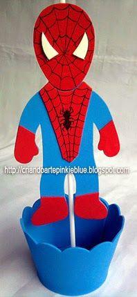 Pinkie Blue Artigos para festa: Homem-aranha -CENTRO DE MESA Boss Baby, Son Love, Ale, Diy And Crafts, Baby Shower, Man Party, Ideas, Man Birthday, Spider Man Birthday