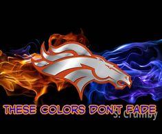 Denver Broncos, the colors of glory. Denver Broncos Logo, Go Broncos, Broncos Fans, Bronco Sports, Bronco Football, Football Fever, Sports Mom, Sports Teams, Football Team