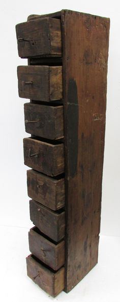 Wooden Storage Cabinets | Antique French Wooden Tool Storage Cabinets