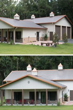 45 Durable & Beautiful Steel Homes That You Have To See - House Topics Residential Steel Buildings, Metal Buildings, Metal Building Homes, Building A House, Cabin Plans, House Plans, Steel Homes, Steel Frame House, Garage Exterior