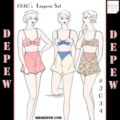 Vintage Sewing Pattern Multi-Size Reproduction 1930's Bra