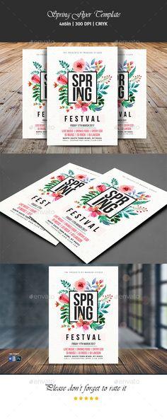 Spring Festival Flyer Template PSD