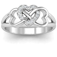 Triple Heart Infinity Ring #jewlr