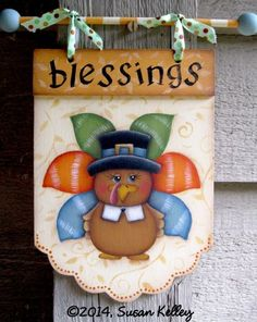 Turkey Blessings ePacket Autumn Painting, Tole Painting, Using Acrylic Paint, Paint Shop, Thanksgiving Turkey, Painting Patterns, Wood Crafts, Blessings, Craft Projects