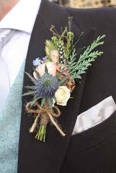 pheasant feather boutonniere - Google Search
