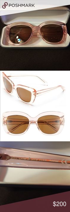 Kate Spade Pink Polarized Sunglasses These are brand new with tag from Kate Spade -  % authentic guaranteed / polarized - love how they fit your face perfectly and color is amazing - so Kate Spade ♠️ and so classy - do not come with their original case but in a Calvin Klein one - do not miss out in these beauties - make offer kate spade Accessories Sunglasses