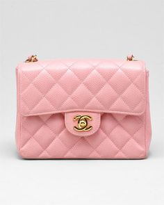 Chanel Pink Quilted Caviar Leather Mini Flap Bag    ......speechless because it's just beautiful......    However, for $2,299.00 that better come with a ticket to Paris!