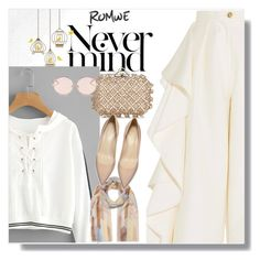 """""""Romwe"""" by niho-niho ❤ liked on Polyvore featuring Solace, Laura Ashley, Jimmy Choo and N°21"""
