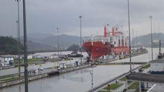 Esclusa de Miraflores en el Canal de Panamá