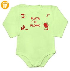 Bloody Plata O Plomo Artwork Baby Long Sleeve Romper Bodysuit Extra Small - Baby bodys baby einteiler baby stampler (*Partner-Link)