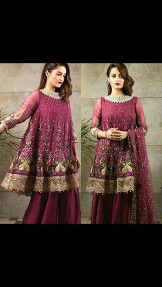 Pakistani Party Wear Dresses, Pakistani Wedding Outfits, Indian Dresses, Mahira Khan Dresses, Girls Fancy Dresses, Short Frocks, Women's Fashion Dresses, Bodo, Designer Dresses