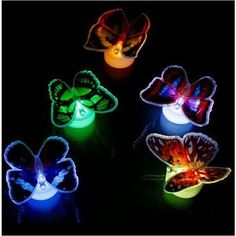 LED Flashing Butterfly Night Light Colors Changing Decorative Lights Stickers Home Decor Color glass jar LED Flashing Butterfly Night Light Colors . Floor Stickers, Wall Stickers, Decals, Seychelles, Belize, Butterfly Lighting, 3d Wall, Wall Art, Led Night Light